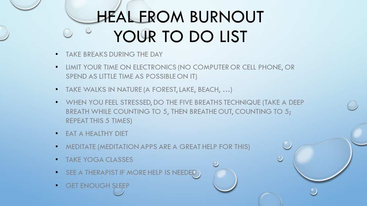 Burnout tips