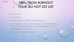 Heal from burnout your do not do list