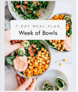 week of bowls